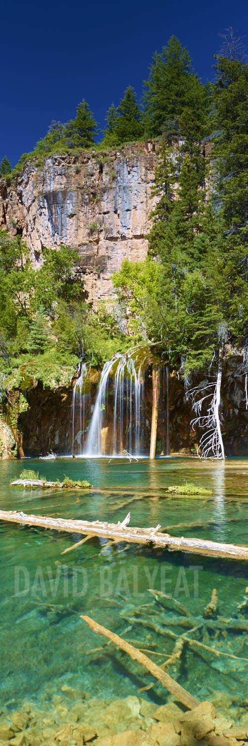 Hanging Lake panoramic waterfall Glenwood Springs Colorado fine art photography
