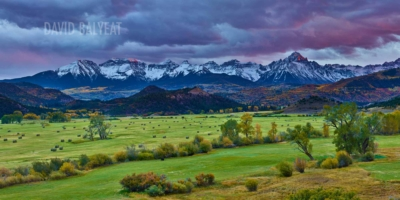 Ridgway Colorado Mountain Ranch at Sunset