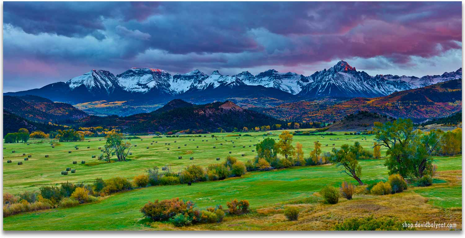 Ridgway Colorado 1 panel artwork mountain ranch at sunset