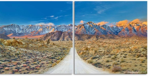 The Journey - Alabama Hills California quadriptych 2-panel diptych wall artwork