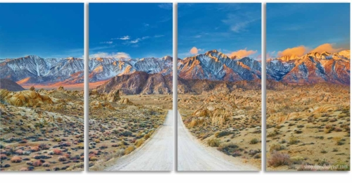The Journey - Alabama Hills California quadriptych 4-panel wall artwork