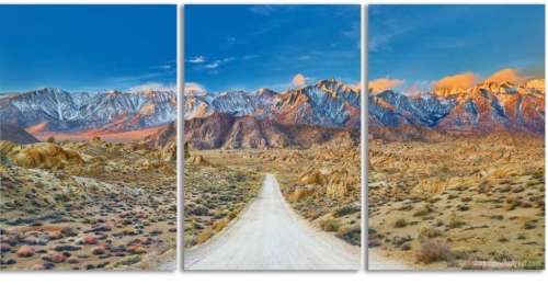 The Journey - Alabama Hills California triptych 3-panel wall artwork