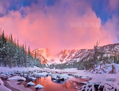 Dream Lake Winter Sunrise