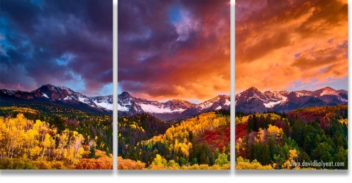 Transcendence Colorado San Juan Mountains 3-Panel Triptych Wall Art